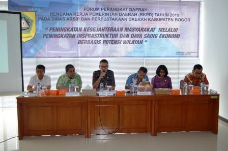 """Forum Perangkat Daerah """"Rencana Kerja Pemerintahan Daerah (RKPD) Tahun 2019"""